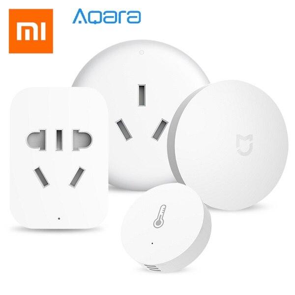 Xiaomi Aqara Kit maison intelligente ensemble de contrôle de température interrupteur sans fil + capteur d'humidité + climatiseur + sortie ZigBee
