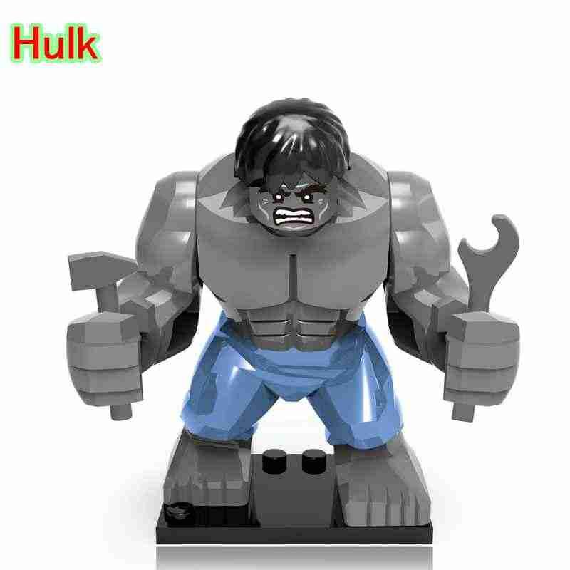 Mailackers ブロックマーベルのスーパーヒーロービッグブロックアイアンマンハルクベイン毒バスターキラーワニフィギュアのおもちゃスーパーヒーローキット