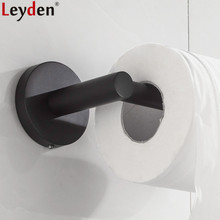 Leyden Toilet Paper Holder Black Stainless Steel Wall Mounted Tissue Roll Bathroom