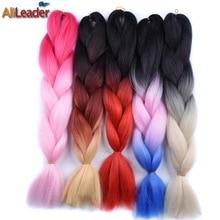 AliLeader 24 Inch 100G Ombre Jumbo Braids Synthetic Hair For Braid Natural Heat Resist Crochet Braid Hair Ombre Braiding Hair,