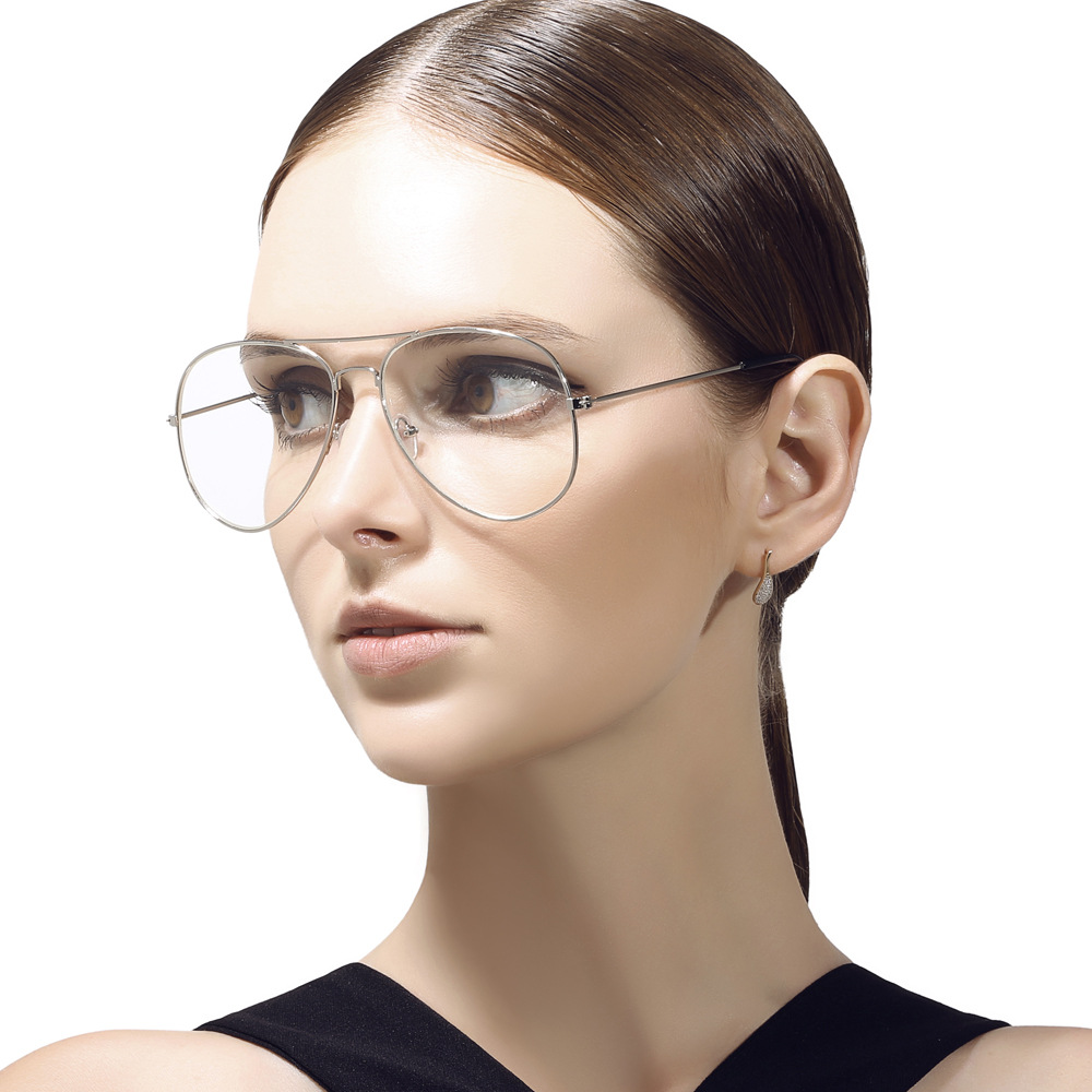 1e42a75a92 Detail Feedback Questions about Vazrobe Aviator Glasses Men Women  Prescription Spectacles Eyeglasses Frames Pilot Eyeglass Diopter Clear Lens  Vintage Gold ...