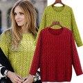 YONO New Fashion Women Sweater Autumn Pullover Shirt Sweater Pastel Twist Knit Top Blusas Europe Style Boyfriend Plus Size 5XL