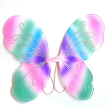 Лидер продаж дизайн Ангел Феи; бабочки; крылья шаль дети обувь для мальчиков девочек Необычные карнавальный костюм Хэллоуин аксессуар