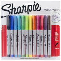 12 Pcs Lot Sharpie Ultra Fine Point Permanent Markers 12 Colored Markers Per Pack