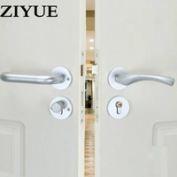 Free Shipping Simple Sand White Space Aluminum Interior Door Wooden Locker Room Door Lock All Match