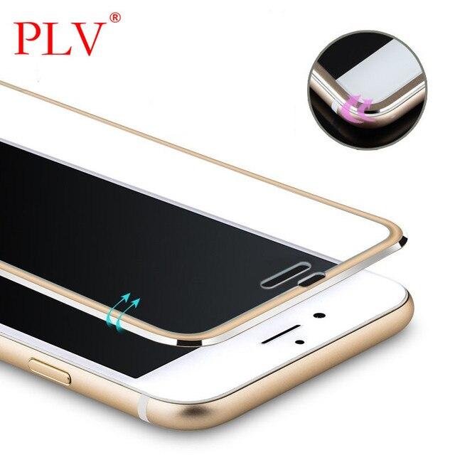 Ясно Передняя Экран протектор для iPhone 6 закаленное Стекло полное покрытие изогнутые 3D край Титан для iPhone 6, 6 S 7 7 Plus Стекло