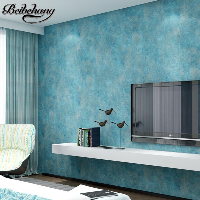 online kaufen großhandel blau muster tapete aus china blau muster ... - Tapete Blau Schlafzimmer