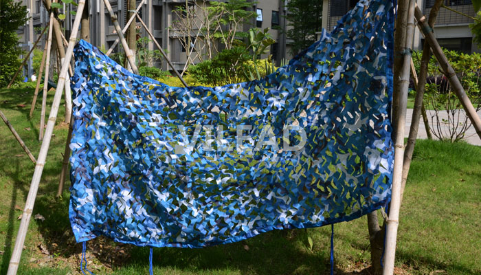 VILEAD 4M*5M Sea Blue Camo Netting Military Camo Netting Army Camouflage Jungle Net Shelter for Hunting Camping Sports Tent vilead 4m 5m sea blue camo netting