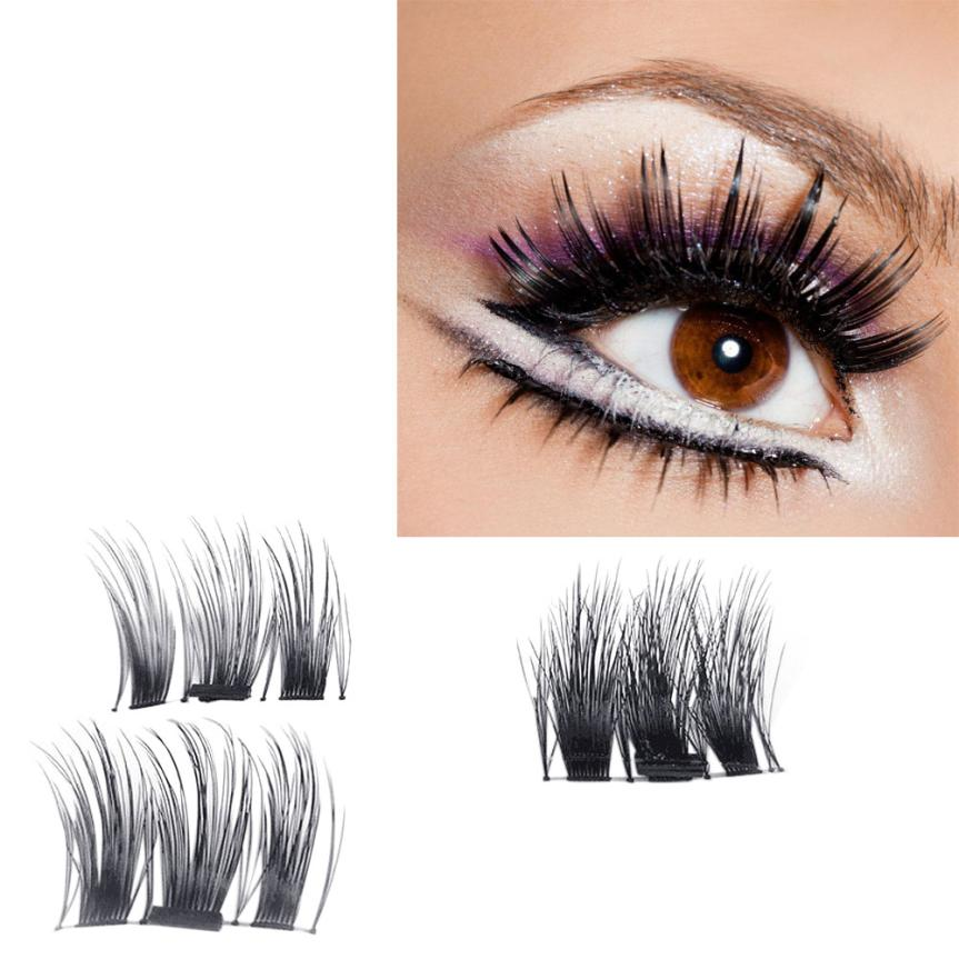 NEW Ultra-thin 0.4mm Magnetic Eye Lashes 3D Reusable False Magnet Eyelashes Extension hh22(China)