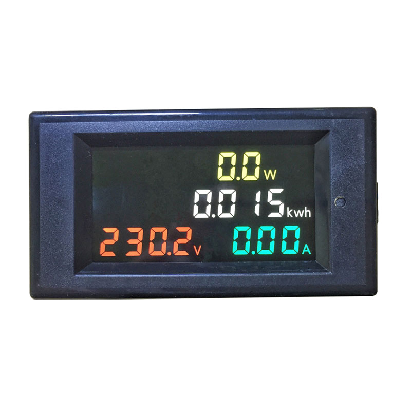 AC80.0-400V 0.01-100A 4 in 1 AC Voltmeter Ammeter Power Energy Meter HD Color Screen 180 Degrees Flawless LED display