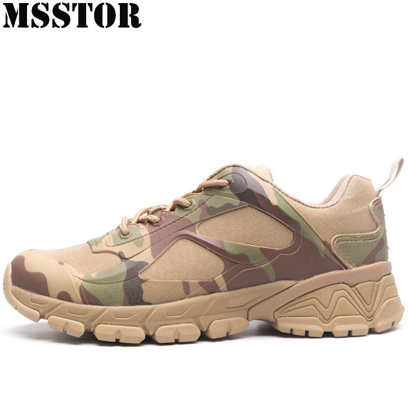 MSSTOR Men Hiking Shoes Man Brand Hunting Trekking Sport Camping Shoes Outdoor Athletic Climbing Tactical Boots Mens Sneakers