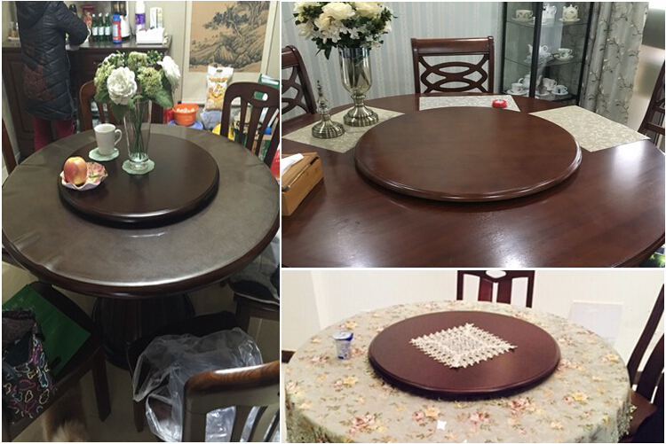 wood lazy susan dining table turntable lazy susan solid_0013