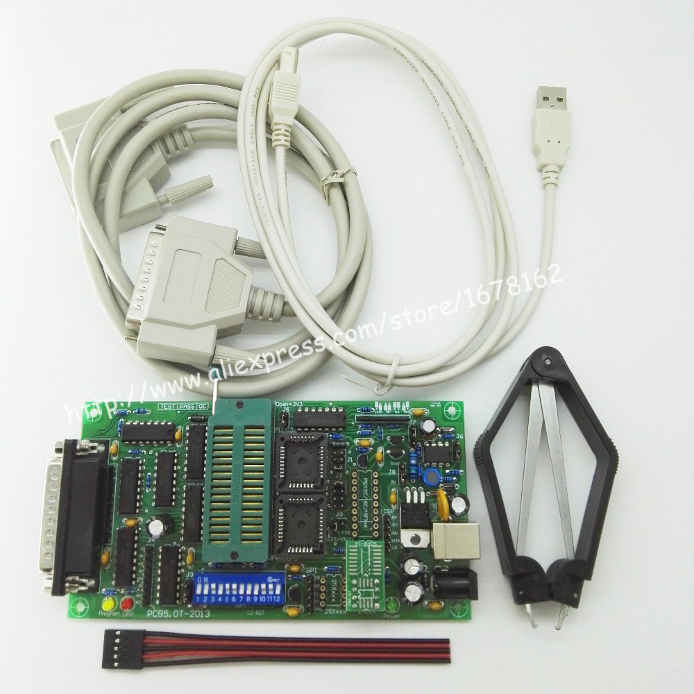 SPI 25xx PCB5.0T-2013 Willem EPROM Programmer, BIOS009 PIC,support 0.98d12,promotion Clip PLCC32+SOIC 8 Pin Adapter