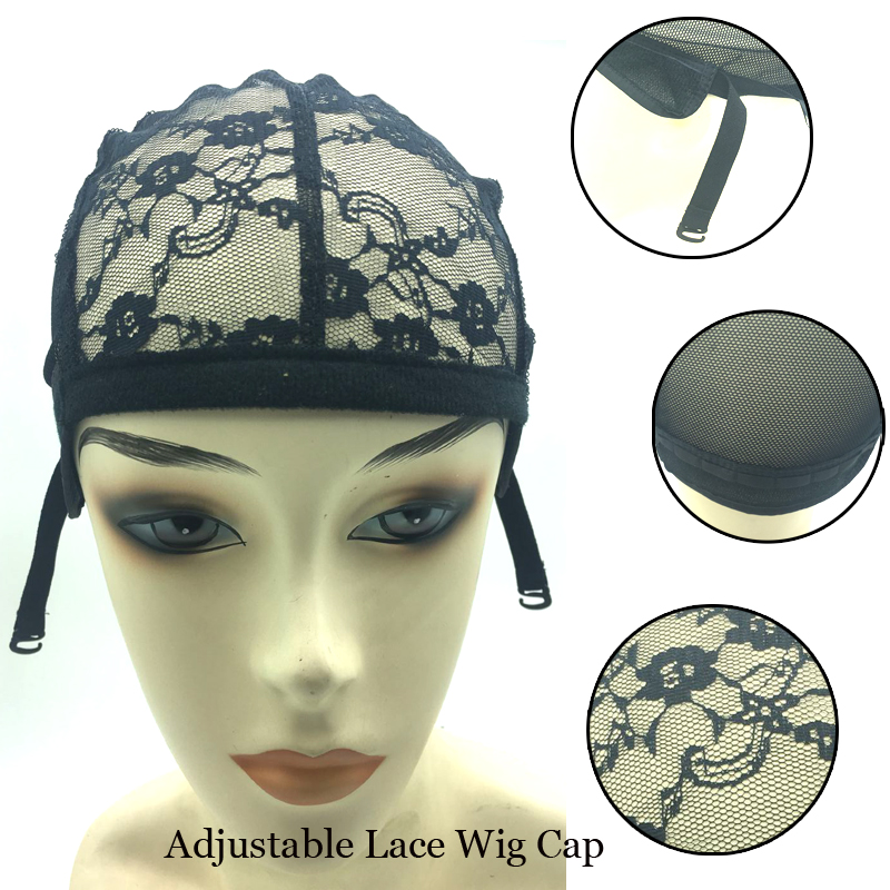 1-50 Bright 2018 Newest pcs Lace Wig Caps For Making Wigs Hot Black Dome Cap For Wig Hair Net Hair Weaving Stretch Adjustable Wig Cap