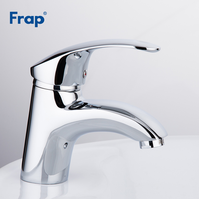 Frap 1set Deck mounted Chrome bathroom Basin taps Brass body bath sink Faucets Mixer hot and