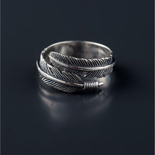 925 Sterling Silver Feather Designed Ring
