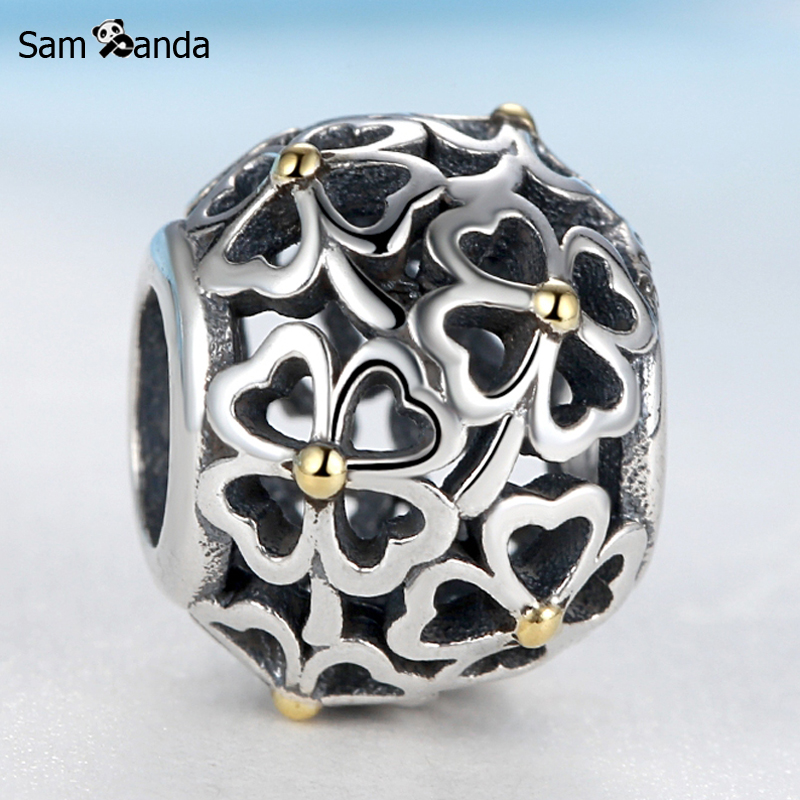 Authentic 100% 925 Sterling Silver Loving Sentiments Openwork Beads Charms Fit Pandora Bracelets & Bangles Gift DIY Jewelry