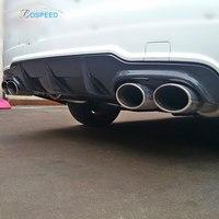 Fit for Mercedes Benz C W204 C63 AMG carbon fiber Rear diffuser bumper rear lip rear spoiler