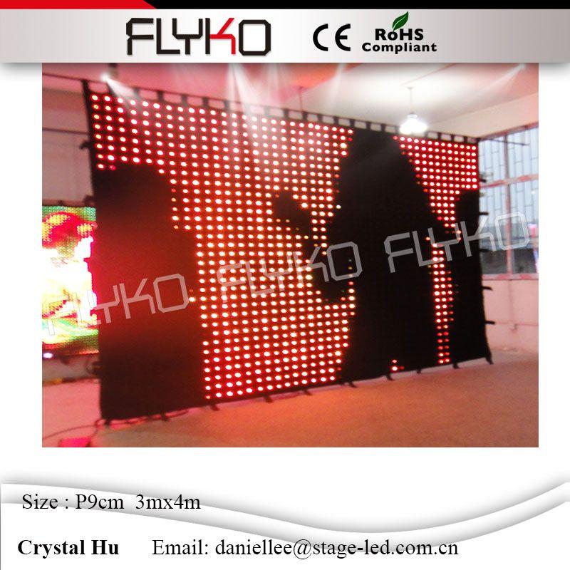 Великолепная Рождественская светодиодный видеоэкран профессиональный продукт светодиодный видео фоне стены p90mm