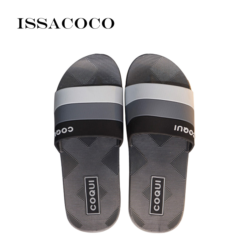 ISSACOCO 2018 New Slippers Men Shoes Sandals Summer Shoes Home - Men's Shoes