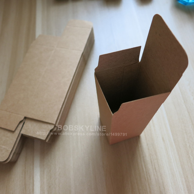3.1x3.1x8.3cm Black White Kraft Paper Box for sample cosmetics perfume esential oil sprays gift box 100pcs 2