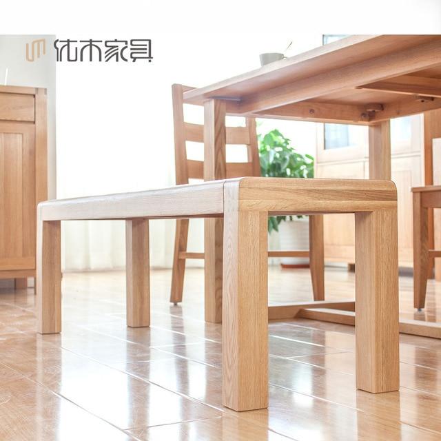 Pura madera maciza importado de roble blanco bancos banco largo ...