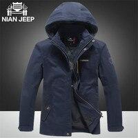 Nian AFS Jeep Detachable Hat Men S Outdoor Sports Cotton Jacket Solid Color 3XL 4XL Plus