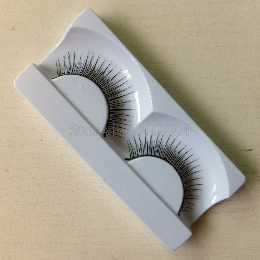 New Design 1 Pairs Fashion Natural Handmade Soft Long False Eyelashes Makeup Natural Beauty