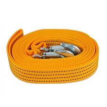 3m 3 Ton Car Traction Rope Car Towing Rope Heavy Duty Tow Strap Rope Hooks  10,000 Lb Capacity Accessories Tow Strap