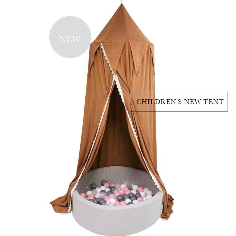 High quality Play House Tents for Kids Canopy Bed Curtain Baby Hanging Tent Crib Room Decor Hung Dome Mosquito Net Bed Valance