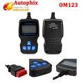 Autophix OM123 OBD2 Leitor de Código de EOBD CAN Analisador de Motores de Mão-held Russo Português Auto Ferramenta da Varredura do Scanner Automotivo