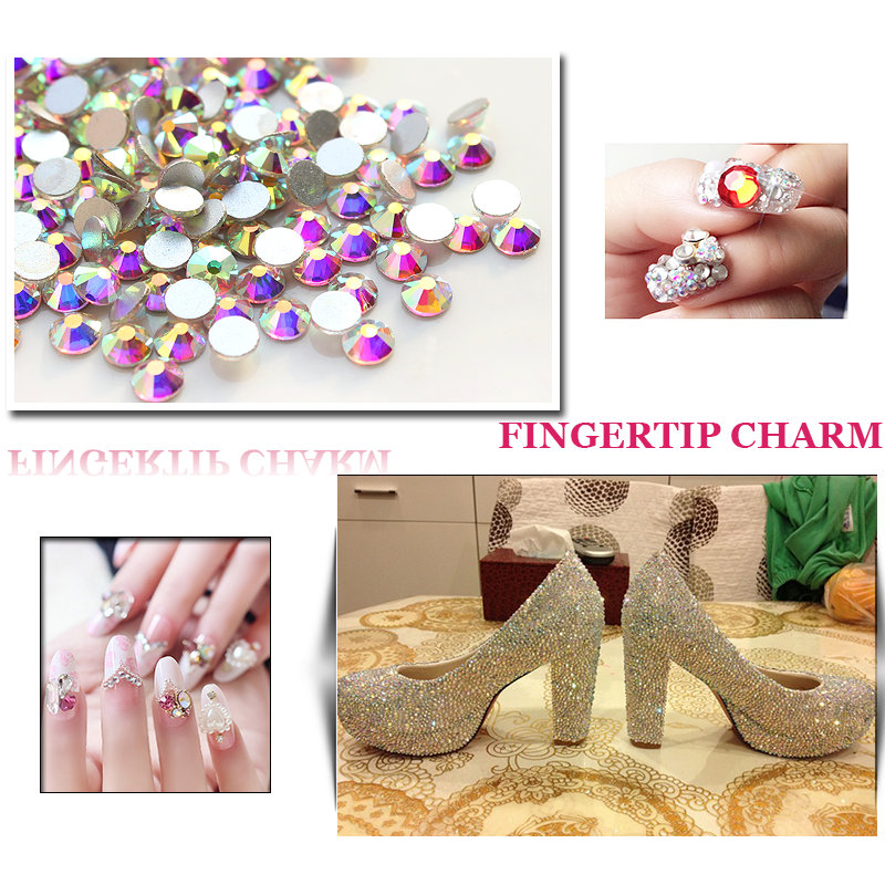 Smykker som gjør perler 1440pcs / pakke SS16 lim på flatback, - Kunst, håndverk og sying - Bilde 4