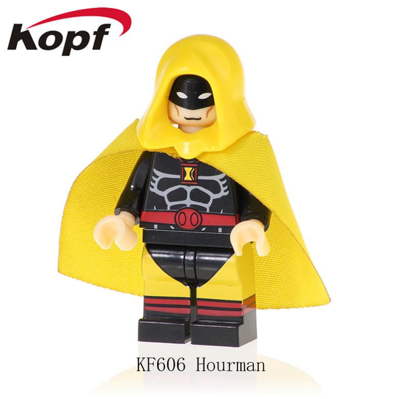 Toys & Hobbies Impartial 20pcs Building Blocks Legoed Super Heroes Iron Man Hourman Spider-man Bricks Figures Ninjagoed Action Toys For Children Kf606a Blocks