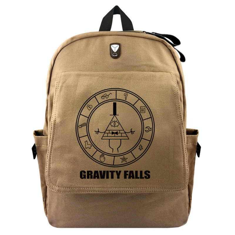 anime Gravity Falls Cartoon Canvas Backpack Laptop Bag School Bag Shoulder Bag Travel Cosplay Bag With Earphone hole Gift gravity falls backpack cosplay print men women bag school bag travel bag