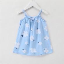 0d52f830e0fb 1-6Y Toddler Baby Girl Dress Blue Summer Girl Birthday Dress Cute Princess  Dress Kids Girls Clothing White Flower A-line Pretty