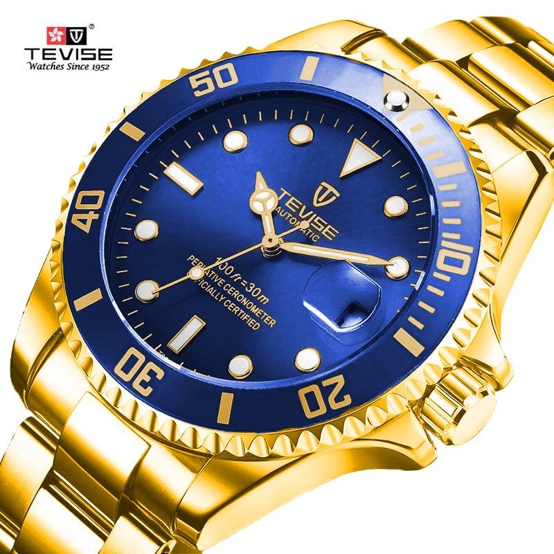 db087d67d23 Tevise Marca Homens Relógios Mecânicos Relógio Automático Esporte Fashion  design Famoso Relógio Orologio Montre homme Relogio