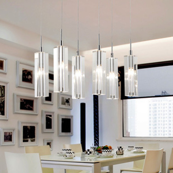 6 Light Kitchen Fixture Lighting Dining Room Crystal Lamp Chandelier Suspension Bar Stairway Hanging Bedroom In Pendant Lights From