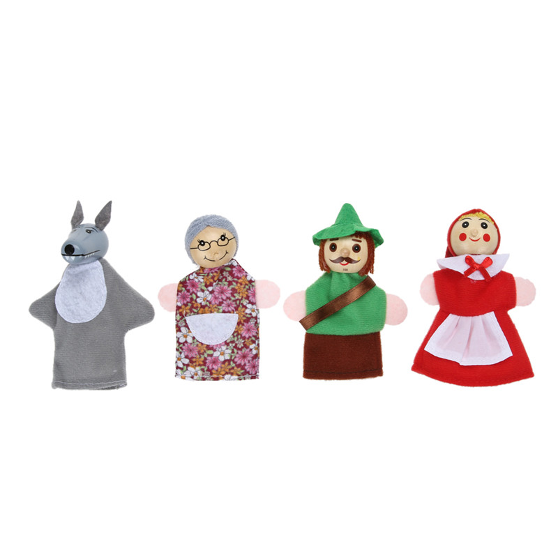 4pcsset-Little-Red-Riding-Hood-Finger-Puppets-Fairy-Tale-Story-Puppets-Christmas-Gifts-Baby-Educational-Toys-for-Children-1