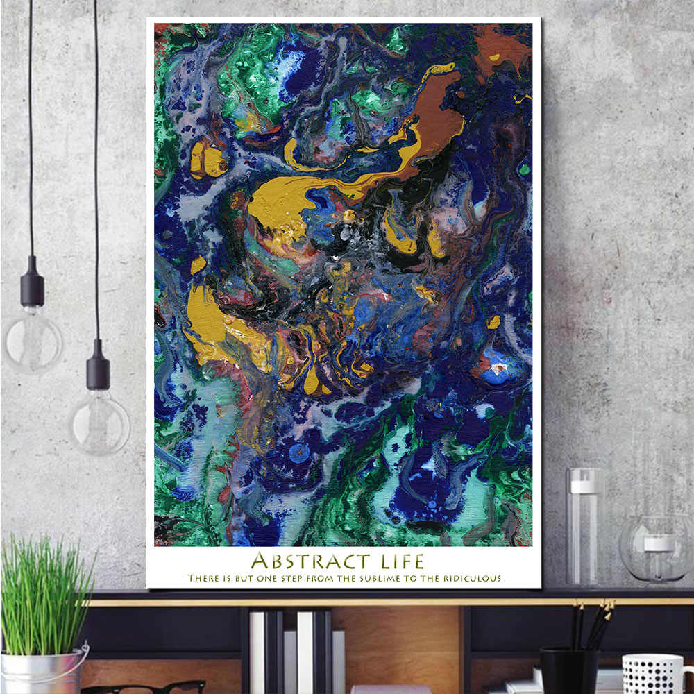 1 Pcs Abstract Graffiti Canvas Print Painting Modern Colorful Wall Art Poster Picture For Living Room Bedroom Decor