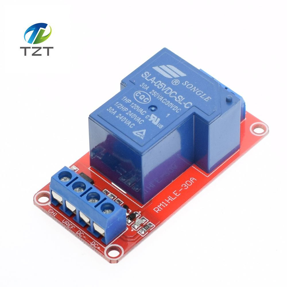 1pcs 5V 30A Two-way isolation relay module High/low level trigger 5V 30A 1-Channel Relay Module+Electronic With Optocoupler