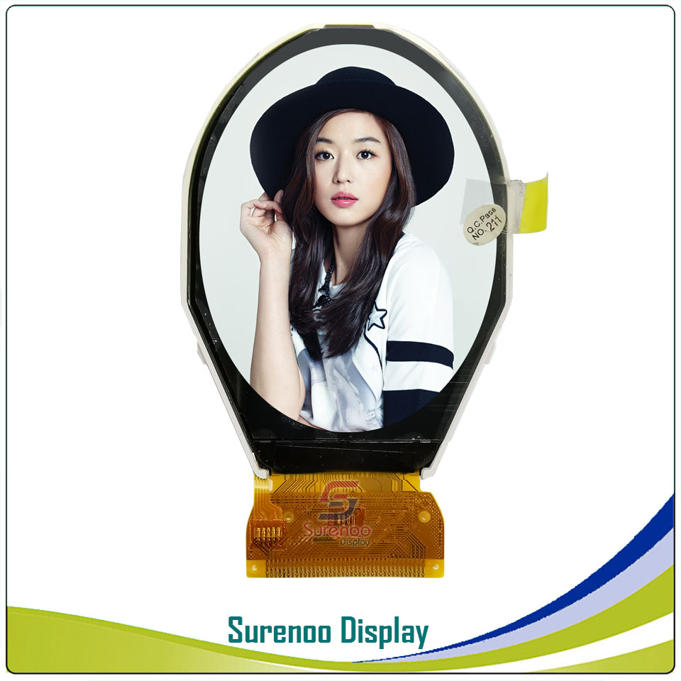 """2.51"""" Inch Ellipse Oval Round 240*320 TFT Color LCD Display Module Screen Build-in ILI9335 Controller Without Touch Panel"""