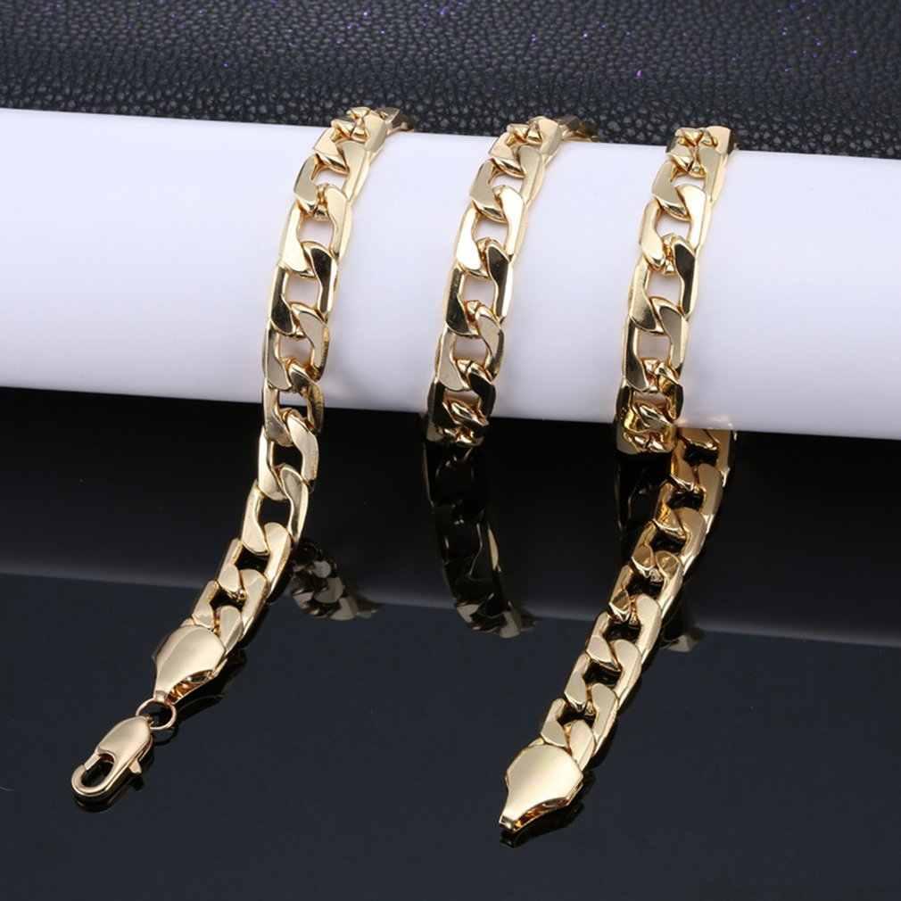 パンクヒップホップキューバリンクパラッパラッパー男性ネックレスストリートファッション人気金属合金ロングチェーン装飾宝石の存在