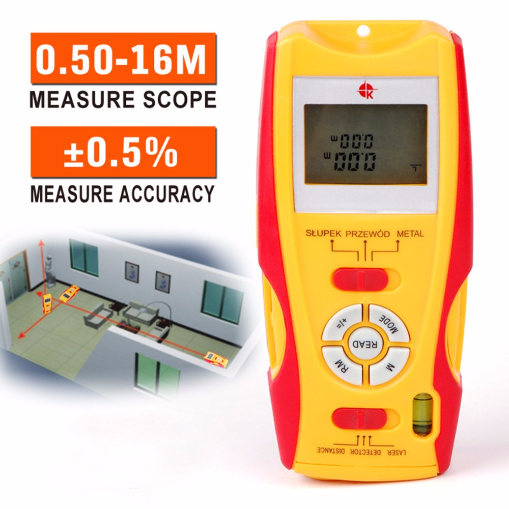 Free New Real 5in1 High-precision Laser Rangefinder Distance Meter Diastimeter / Stud Finder Measure Scope 0.05m-16m Ad1015 corporate real estate management in tanzania