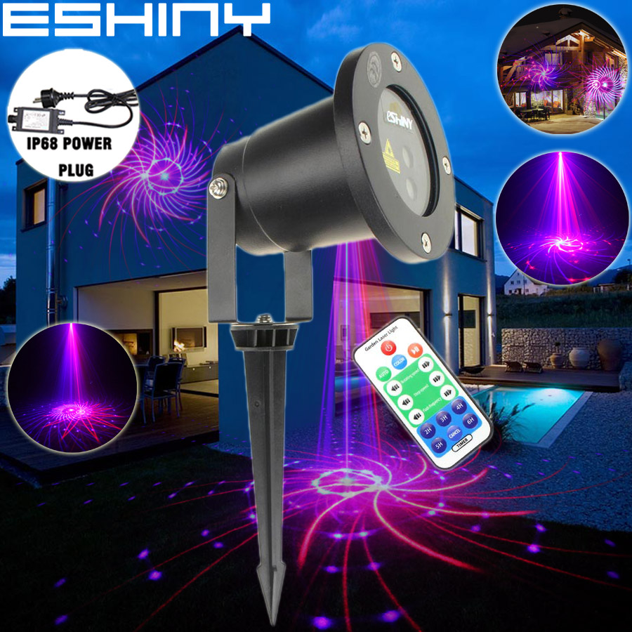 Gentle Eshiny Outdoor Remote Wf R&b Laser 12 Big Patterns Projector Holiday House Xmas Coffee Dj Tree Wall Landscape Garden Light T47 Diversified In Packaging