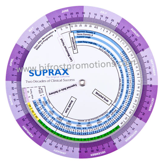 Due Date Calculator Pregnancy Wheel-in Rulers from Office