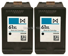 цена на 2pk Black Ink Cartridge for HP 61XL 61 ink cartridges CH563WN for HP DeskJet 1050/2050/2510/3050 Envy4500/5530 Officejet 4630