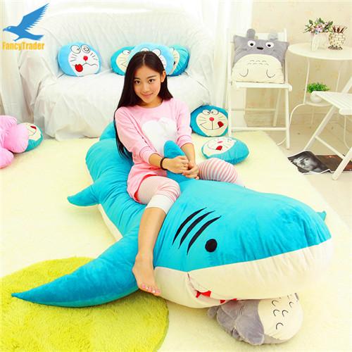 Fancytrader Huge Giant Shark Sleeping Bag Beanbag Sofa Bed Carpet Tatami Plush Stuffed 2 Colors FT90358 (3)