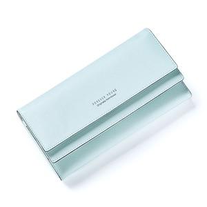 Image 3 - MONNET CAUTHY portefeuille pour femme concis loisirs doux mode Style coréen dame bonbon couleur vert rose noir gris longs portefeuilles