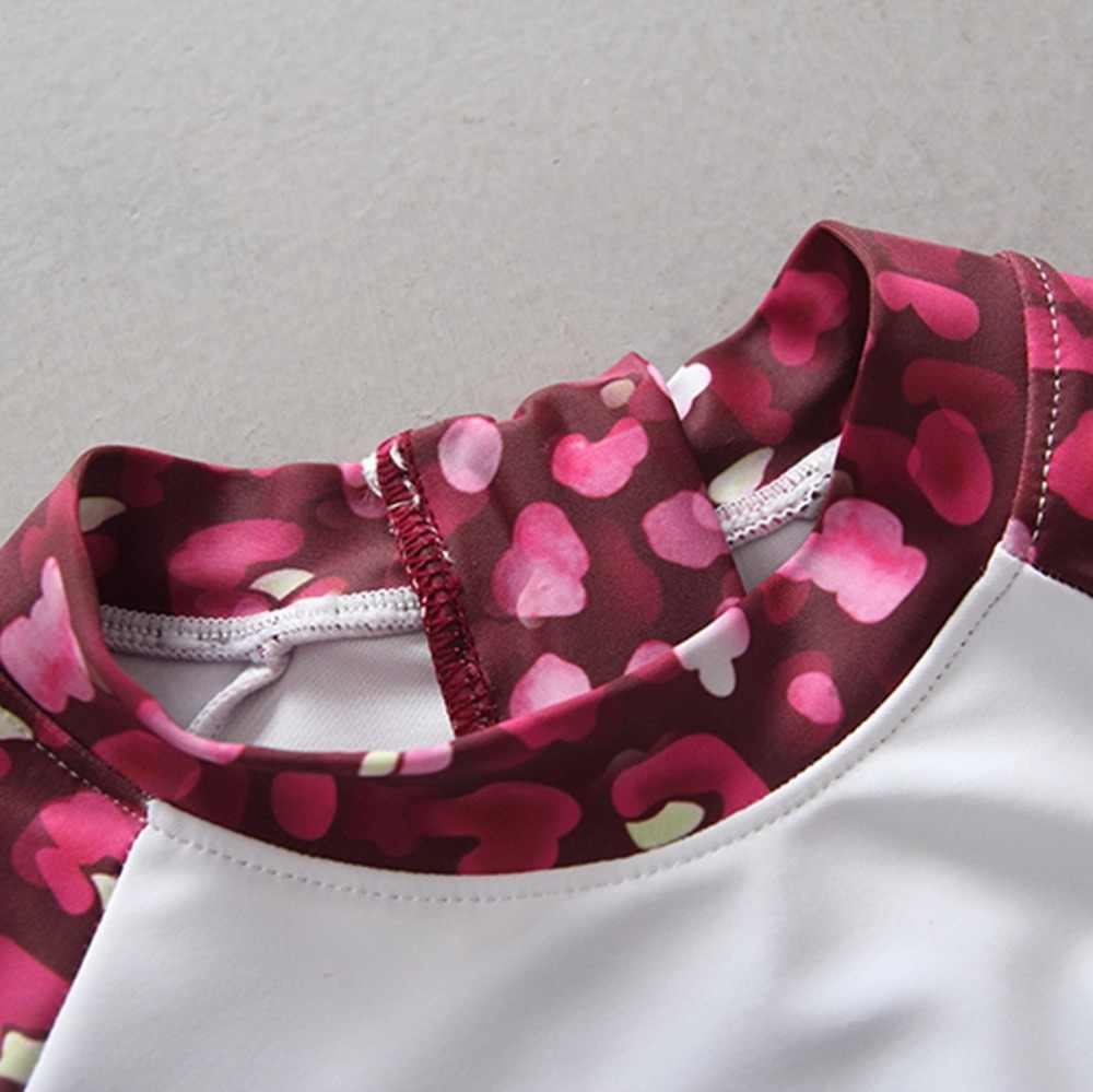 Kecil Ramah UV Baju Renang Gadis 2018 New Floral Dicetak Satu Potongan Lengan Panjang Perlindungan Matahari Anak Gadis Pakaian Renang Pakaian Renang