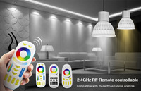 4W Mi Light LED Bulb Lamp Light Dimmable MR16 GU10 RGB CCT(2700 6500K) 4pcs RGB Spotlight + 1PC 2.4G RF LED Remote Control